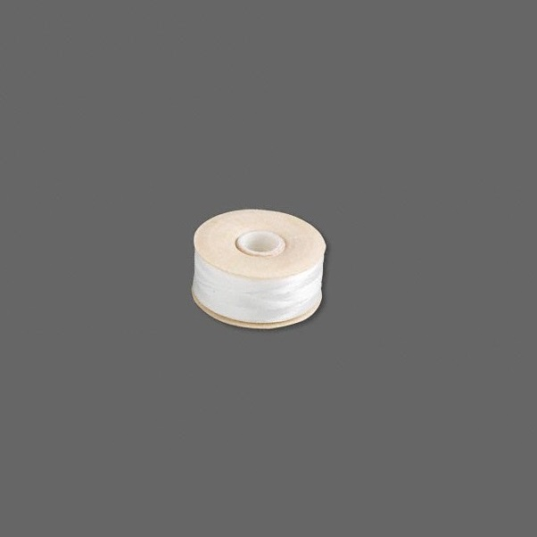 Nymo Nylon Monocord Thread  White Size D  Bobbin of 64 yards (192 feet)