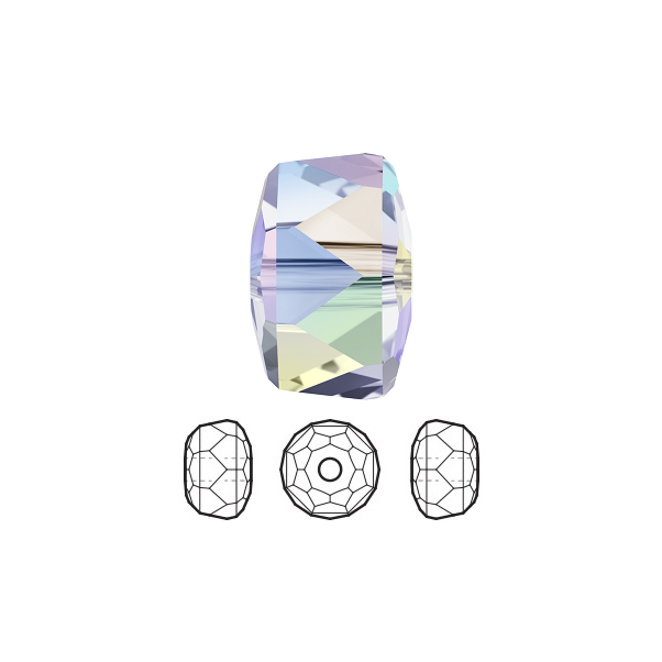 9251b0f52 Swarovski Crystal Beads Faceted Rondelle 5045 Clear AB 4x2.5mm Package of 10