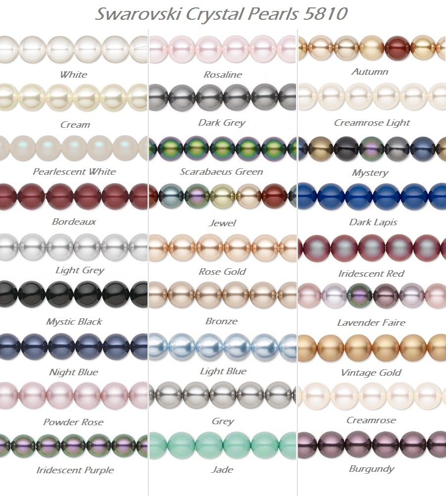 Swarovski crystal pearls 5810 color chart wanan beads nvjuhfo Image collections